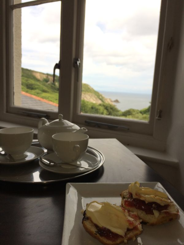 Tea at the Lamorna Cove Hotel